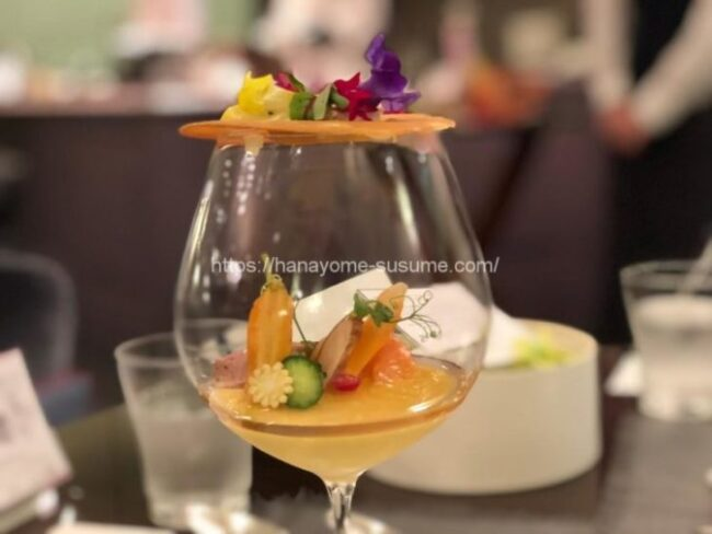 ザ クラブ オブ エクセレントコーストの前菜料理「王の彩園~ベルサイユ~」