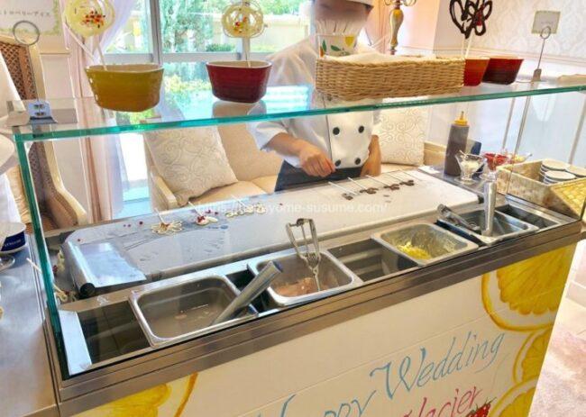 アニヴェルセルみなとみらい横浜のスペシャルデザートビュッフェで提供されるコールドストーンアイス