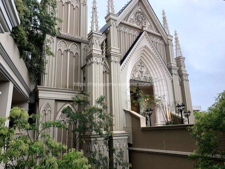 伊勢山ヒルズの大聖堂「セントグレース大聖堂」の外観