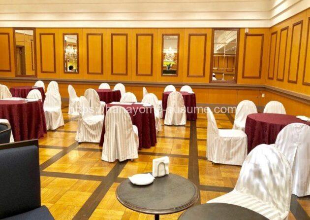 ヨコハマグランドインターコンチネンタルホテルの宴会場「シルク」の全体写真