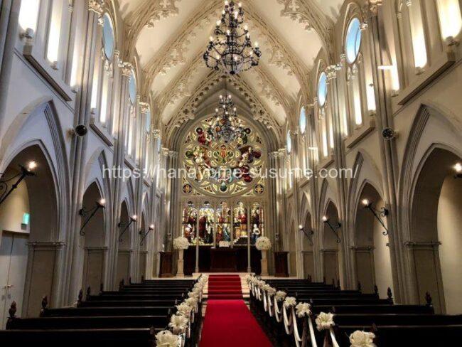 伊勢山ヒルズの大聖堂「セントグレース大聖堂」を入口から見たイメージ