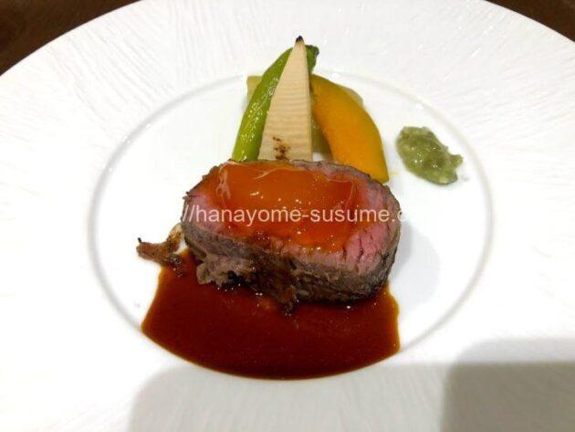 ヨコハマグランドインターコンチネンタルホテルの婚礼料理のお肉料理