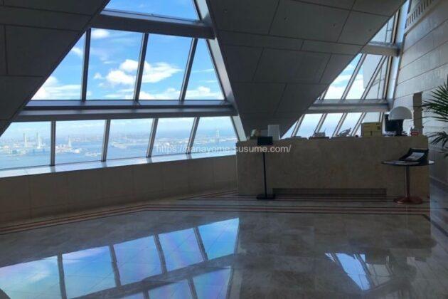 横浜ロイヤルパークホテルフィットネスジムのエントランス
