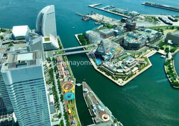 横浜ロイヤルパークホテルのスカイアトリウム「セレスト」から見える景色