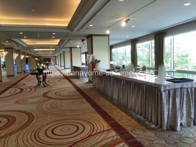 横浜ロイヤルパークホテルの披露宴会場「鳳翔」使用時の受付スペース