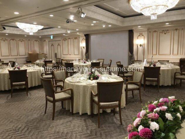 横浜ロイヤルパークホテルの披露宴会場「芙蓉」の全体写真