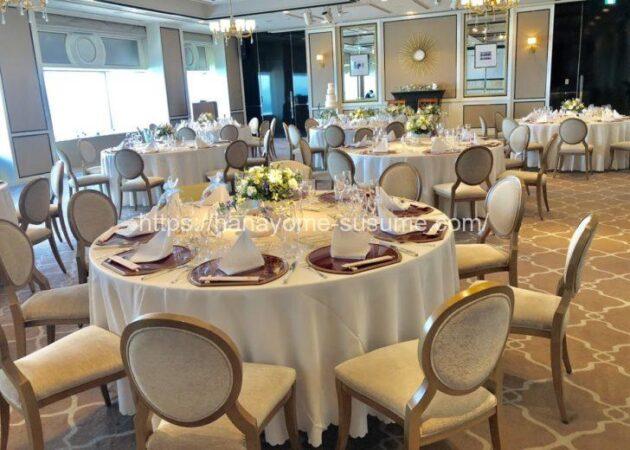 横浜ロイヤルパークホテルの披露宴会場「レインボー・オーロラ」の全体写真