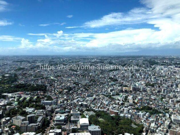 横浜ロイヤルパークホテルの披露宴会場「オーロラ」から見える景色