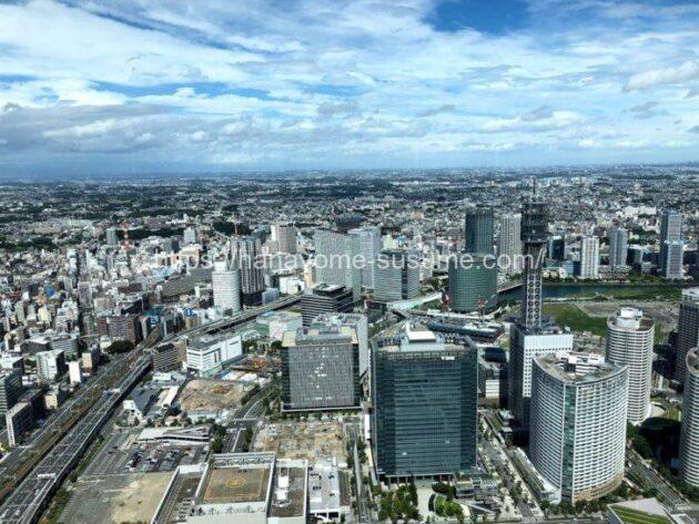 横浜ロイヤルパークホテルの披露宴会場「レインボー」から見える景色