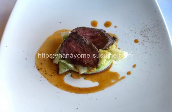 横浜モノリスのお肉料理の牛ハラミのロティ