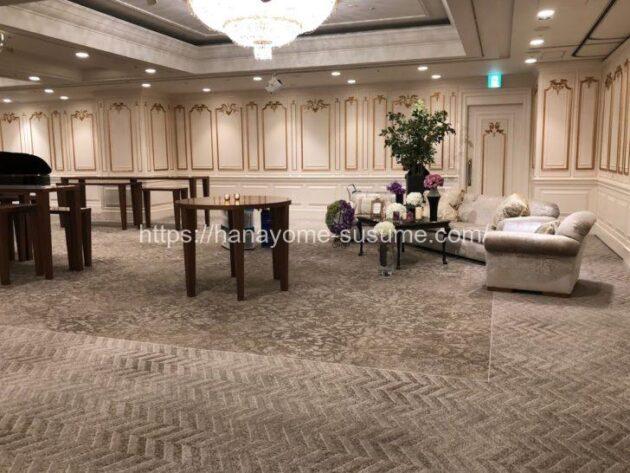 横浜ロイヤルパークホテルの披露宴会場「芙蓉」のフリースペース部分