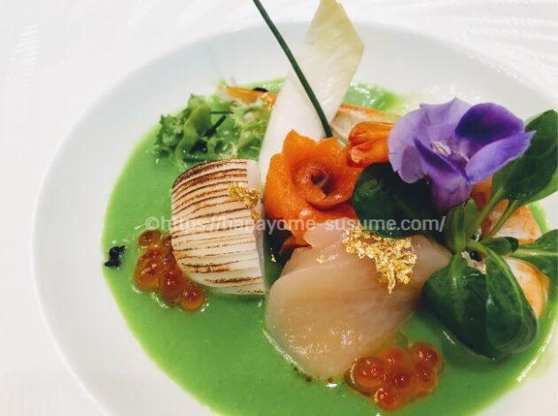 横浜ロイヤルパークホテルの前菜料理「海の幸と彩り野菜の宝石箱」
